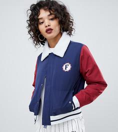 Куртка в стиле ретро с логотипом на спине и воротником борг Fila - Мульти