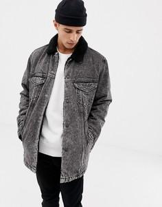 Удлиненная куртка с искусственным мехом Levis wild cat - Синий Levis®