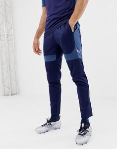 Темно-синие спортивные брюки Puma Football 655795-03 - Темно-синий