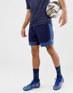 Темно-синие шорты Puma Football 655787-03 - Темно-синий
