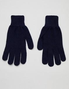 Темно-синие кашемировые перчатки Paul Smith - Темно-синий