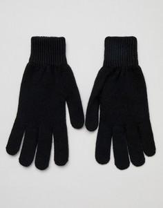 Черные кашемировые перчатки Paul Smith - Черный