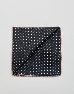 Черный платок для нагрудного кармана в горошек Paul Smith - Черный
