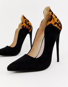 Туфли-лодочки с леопардовым принтом Lost Ink Tammy - Мульти