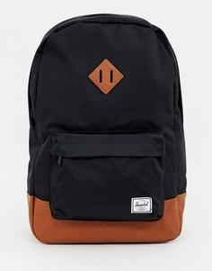 Рюкзак (черный/светло-коричневый) Herschel Supply Co Heritage 21,5 л - Черный