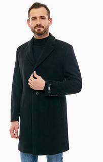 Шерстяное демисезонное пальто на пуговицах Karl Lagerfeld