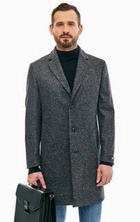 Полушерстяное демисезонное пальто на пуговицах Karl Lagerfeld