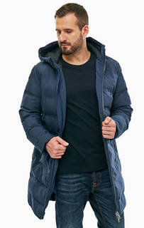 Синяя удлиненная куртка с капюшоном Jack & Jones