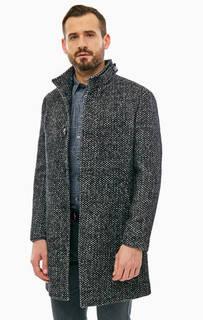 Серое шерстяное пальто с карманами Marc Opolo