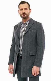 Серое шерстяное пальто на пуговицах Marc Opolo