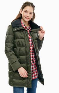 Удлиненная куртка с вельветовым воротником Barbour