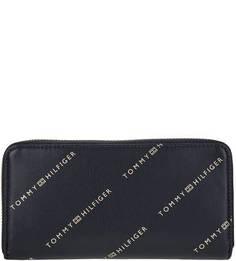 Синий кошелек с одним отделом для купюр Tommy Hilfiger