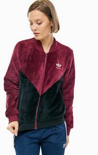 Куртка-бомбер из флиса Adidas Originals