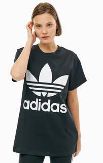 Футболка оверсайз с контрастным принтом Adidas Originals