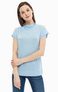 Однотонная футболка с высоким воротом United Colors of Benetton