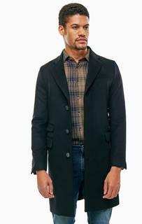 Классическое черное пальто из шерсти United Colors of Benetton