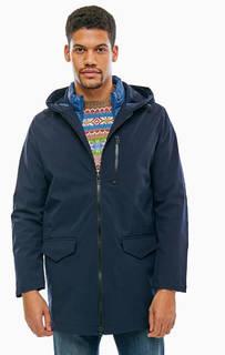 Синяя демисезонная куртка на молнии United Colors of Benetton