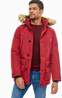 Бордовая куртка со съемным капюшоном Tom Tailor