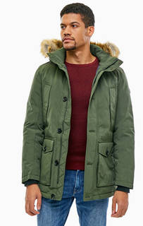 Куртка цвета хаки со съемным капюшоном Tom Tailor
