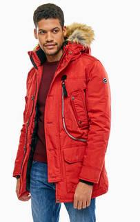 Удлиненная куртка красного цвета Tom Tailor