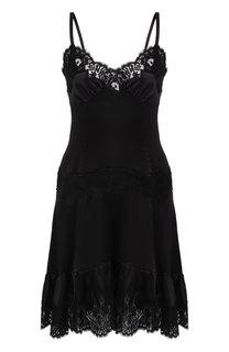 Шелковое платье с кружевной отделкой Dolce & Gabbana
