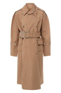 Хлопковое пальто с поясом Acne Studios