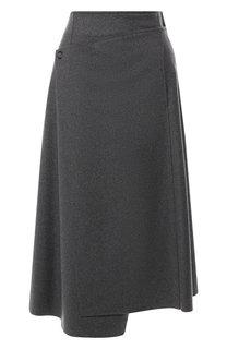 Шерстяная юбка-миди с запахом Acne Studios