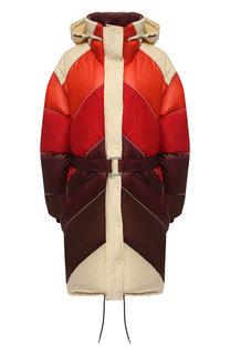 Стеганый пуховик с поясом и воротником-стойкой Golden Goose Deluxe Brand