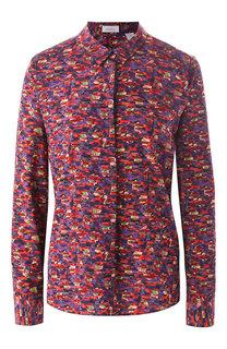 Шелковая блуза с принтом Van Laack