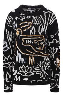 Хлопковый пуловер с круглым вырезом Kenzo