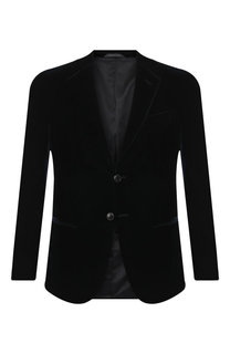 Однобортный пиджак из вискозы Giorgio Armani