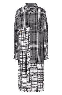 Платье-рубашка в клетку Balenciaga