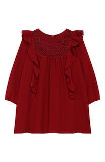 Платье свободного кроя с оборками Chloé