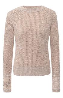 Кашемировый пуловер с круглым вырезом Fendi
