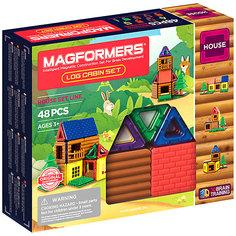 Магнитный конструктор MAGFORMERS Log cabin set, 48 деталей