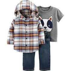 Комплект: Рубашка, футболка и джинсы Carters для мальчика