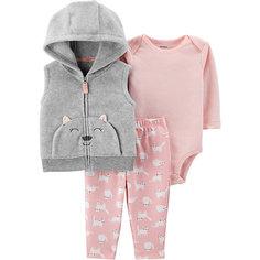 Комплект: Жилет, боди и брюки Carters для девочки