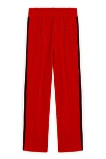 Красные брюки с лампасами Sandro