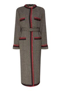 Шерстяное пальто свободного кроя Gucci
