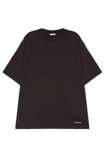 Серая футболка из хлопка Balenciaga