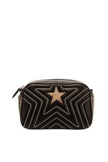 Черная сумка с контрастной отделкой Stella Mc Cartney