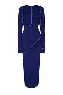 Синее деконструктивное платье Marni
