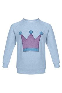 Голубой свитшот с короной Lisa&Leo