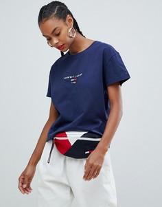 Футболка с логотипом-флагом Tommy Jeans - Темно-синий