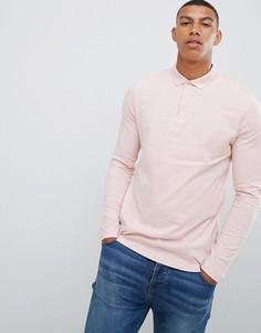 Розовый лонгслив-поло ASOS DESIGN - Розовый