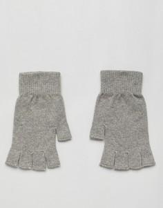 Серые меланжевые перчатки без пальцев ASOS DESIGN - Серый