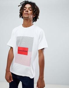 Футболка с принтом Calvin Klein Jeans - Белый