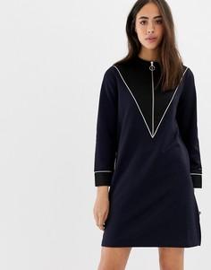 Платье в спортивном стиле на молнии Maison Scotch - Темно-синий