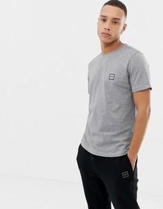 Серая футболка с логотипом BOSS Tales - Серый