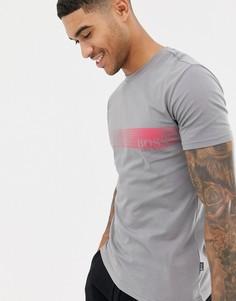 Узкая футболка с логотипом BOSS - Серый